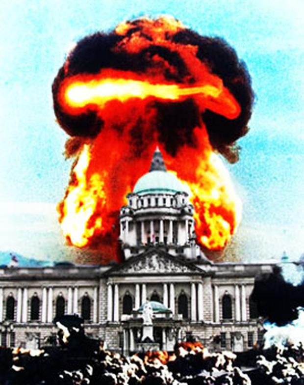 Nuclear threat: Belfast was target