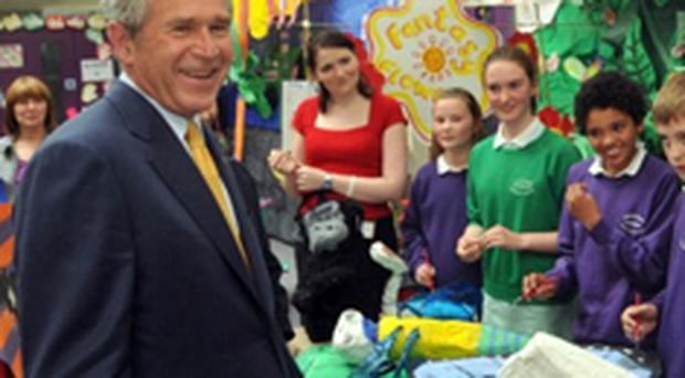 Bush on his visit to Belfast City