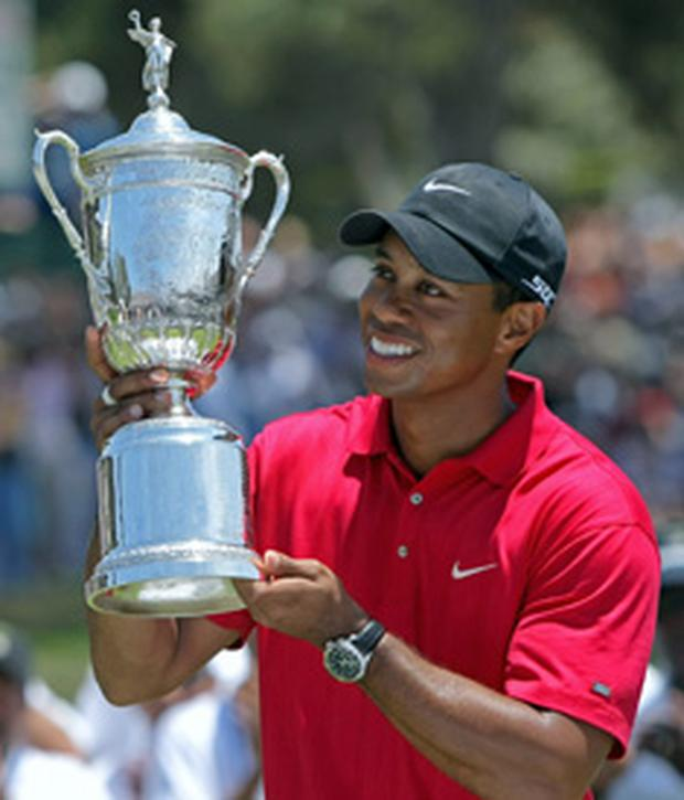 Tiger Woods won the US Open after a play-off against Rocco Mediate