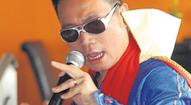 The Chinese Elvis swapping spring rolls for rock 'n' roll