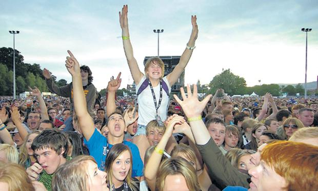 Hands up if you like ViTal: Festival-goers get into the groove as the bands take to the stage