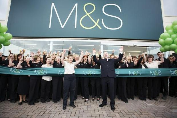 Marks and Spencer's re-designed store in Bangor was unveiled with a traditional ribbon cutting ceremony led by the store manager, Gerry Ferrin, and longest serving member of staff, Maureen Killen