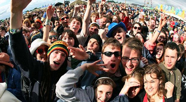 Festival goers have a blast