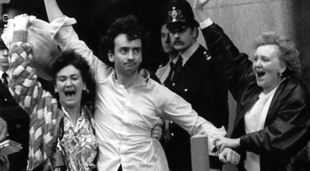 Gerry Conlon is released from the Old Bailey in 1989