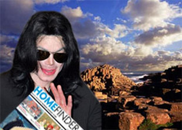 Michael Jackson could soon be reaching for a copy of Homefinder. Ladbrokes are giving 16/1 odds that he will settle in Co Antrim