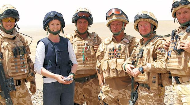 On the frontline: Our reporter Lesley-Anne on patrol with members of the Royal Irish Regiment