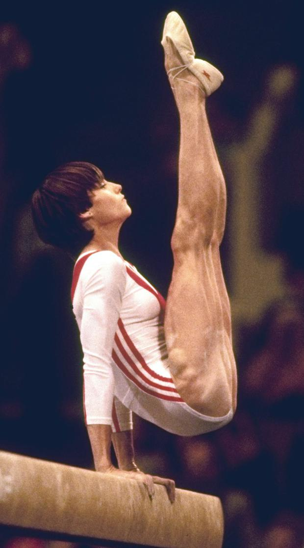 Nadia Comaneci of Romania at the 1976 Olympics in Montreal