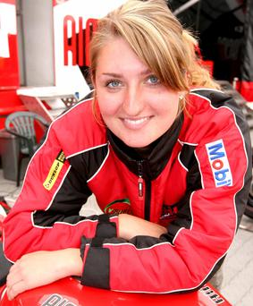 Kate Martin grew up around motorcycles and loves working as a mechanic for her racing star brother, Guy