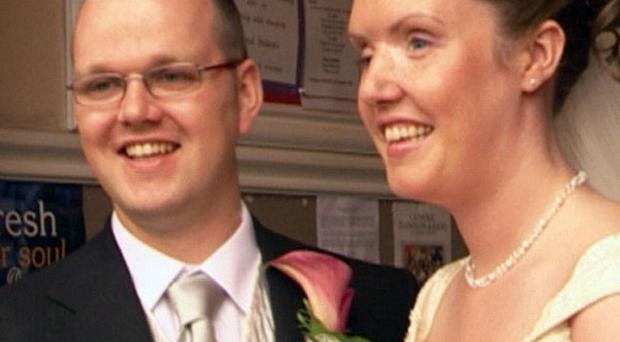 The happy couple — Ryan and Claire Bowse on their wedding day, nine years after Claire lost her sight due to injuries suffered in the Omagh bombing