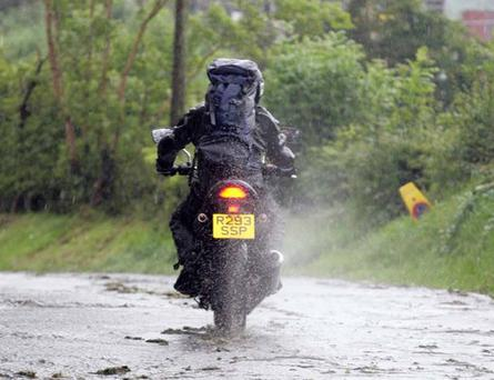Race Day at the Ulster Grand Prix had to be called off due to the heavy rain for the first time in its history.