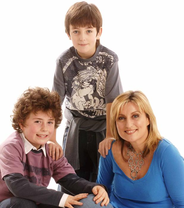 Television and radio presenter Lynda Bryans (43) has two boys, Christopher (8), and PJ (11), with her husband and co-presenter Mike Nesbitt.