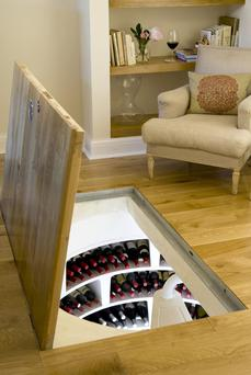 This spiral cellar offers perfect storage for your favourite vintage..