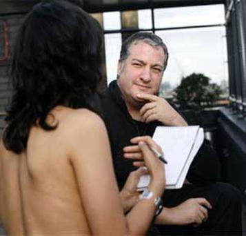 The journalist puts her questions to artist Spencer Tunick