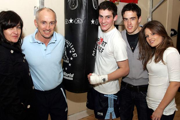 Barry with wife Sandra, sons Shane and Jake and daughter Danika