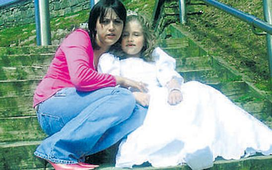Days after this picture was taken, little Caitlin's body was found by gardai