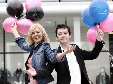 Celebrating the opening of Tom Tailor's first UK and Ireland outlet store at Junction One are Miss Northern Ireland, Judith Wilson, and Tom Tailor area manager, Richard Holder