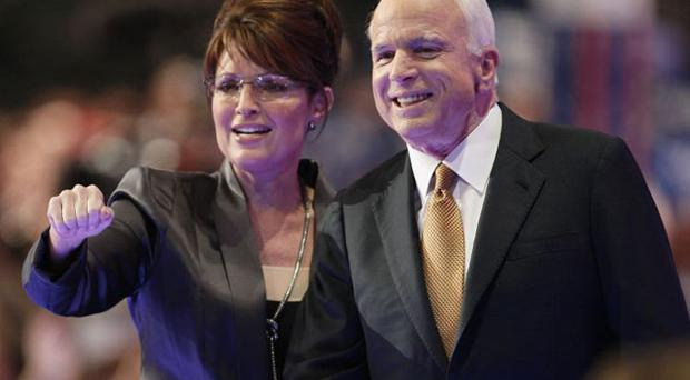 John McCain and Sarah Palin at the Republican convention