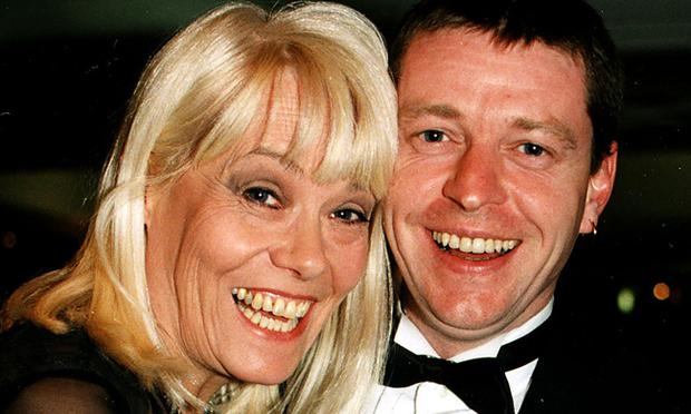 Wendy Richard with partner John Burns