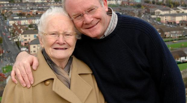 The late Peggy McGuinness pictured with her son Martin