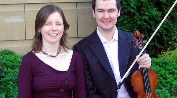 Darragh Morgan and his concert pianist wife Mary Dullea