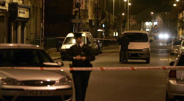 The scene of the accident in Newry where little Tatyana died