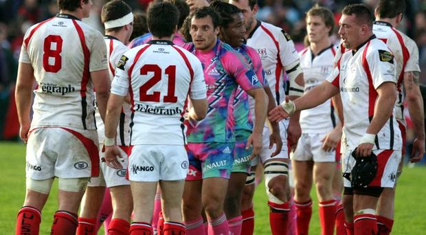 Ulster in action against Stade Francais