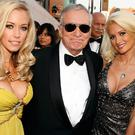 Hugh Hefner (centre)