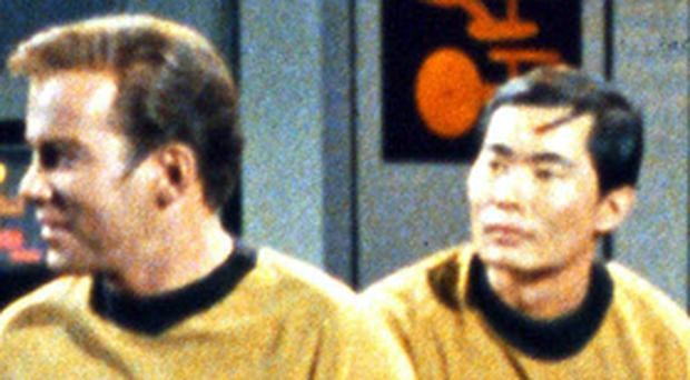Captain Kirk and Mr Sulu, in happier times