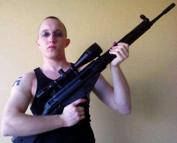 This photo of Daniel Cowart, 20, from Tennessee, was posted on MySpace. He is one of two neo-Nazis arrested over a plot to assassinate Barack Obama