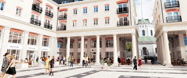 Future look: An artist's impression of redevelopment work close to St Anne's Cathedral