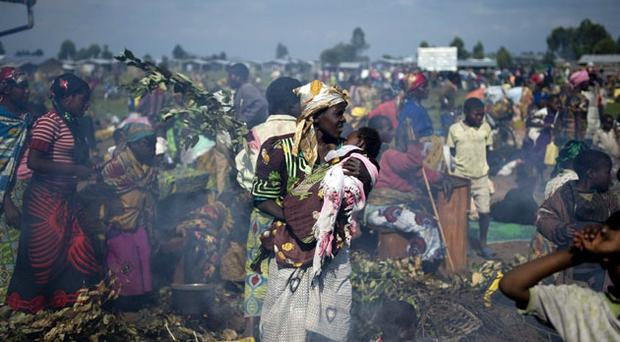 Refugees at a camp in Kibati, about 15 miles north of Goma. Many of these Congolese have lost count of the number of times they have fled the fighting that has racked the east of the country for 15 years