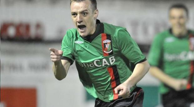 Glentoran's Jason Hill