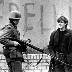 British soldiers patrol Belfast in 1969