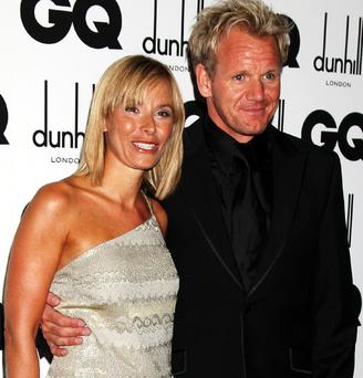 Chef Gordon Ramsey and his wife Tana Ramsey