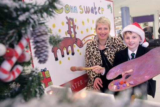 Talented Tony McCracken, aged 10 from Sullivan Upper School, landed first prize in Connswater Shopping Centre s Christmas Poster competition judged by local artist Nicola Russell. As well as having his work proudly displayed on a giant-sized poster site in Belfast, Tony will have a special lunch with Santa who has set up home in a spectacular new grotto at Connswater...All media queries to Stephen McGrath at Weber Shandwick on 028 9034 7300
