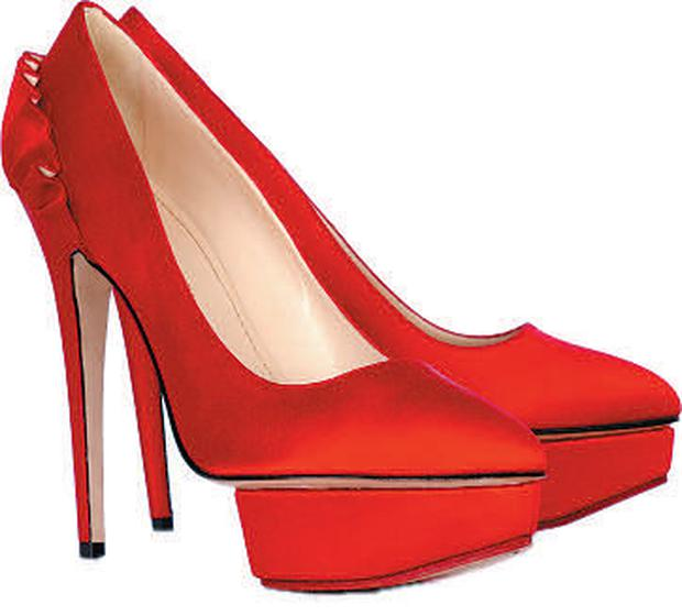 "<b>Charlotte Olympia Paloma Pumps</b><br/> ""Every woman needs a pair of killer heels and these brightred satin platform pumps could be them,"" suggests Malika Dalamal. ""If the eye-popping colour and towering heel isn't enough of a statement, the pleated ruffle at the back should do the trick,"" <br/> <b>Price:</b> £395 - 0845 675 1321; www.net-a-porter.com"