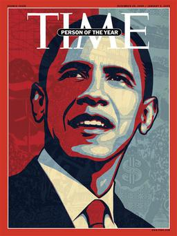 This image supplied by Time Magazine, shows the cover of the magazine's December 29, issue naming President-elect Barack Obama as their
