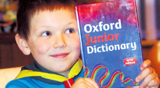 Oliver Saunders, aged seven, sparked a worldwide debate on the dictionary