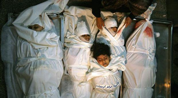 You will be martyrs: These were the words spoken by the surviving sister as her five siblings, Jawaher, four, Dina, eight, Samar, 12, Ikram, 15 and Tahrir, 17, lay dying beneath the rubble of their home
