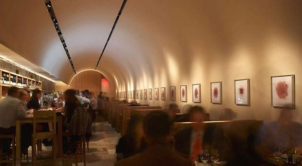 Cavern club Bar Boulud features a charcuterie bar serving house made products