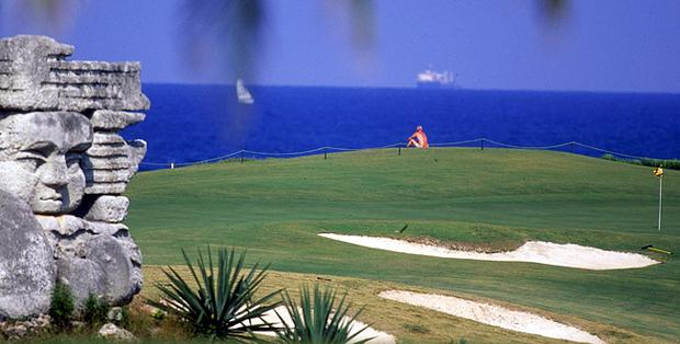 The 18th green during the 2nd Cuba Challenge Tour Grand Final at Varadero Golf Club in Cuba