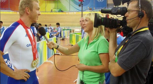 Golden Moment: Jill interviewing Olympic cycling hero Chris Hoy