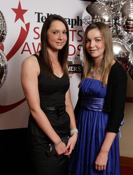 Chelsea and Courtney Wilson from Enniskillen at the Belfast Telegraph Sports Awards sponsored by Magners in the Ramada, Belfast.