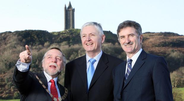PR FREE USE PR FREE USE PR FREE USE.... Press Eye Ltd - Northern Ireland - 21st January 2009. ..Mandatory Credit - Photo-William Cherry/Presseye.com....Picture shows Cllr Jim Fletcher, Mayor of Ards, John Ritchie, Chairman of Ards Business Centre and Denis Rooney CBE, Chairman of the International Fund for Ireland, at the opening of Sketrick House, a 3.3 m extension to Ards Business Centre that could create over 100 new jobs. The high specification offices are the most recent in a series of investments by Ards Business Centre and provide over 20,000 sq ft of workspace. Over 800,000 was provided by the International Fund for Ireland with additional funding from Ards Business Centre and Ards Borough Council through the European Building Sustainable Prosperity Programme managed by DETI.