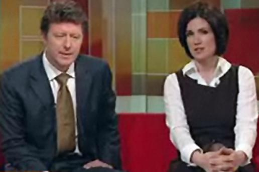 BBC Breakfast presenters Charlie Stayt and Susanna Reid after the unedited Christian Bale tape was broadcast