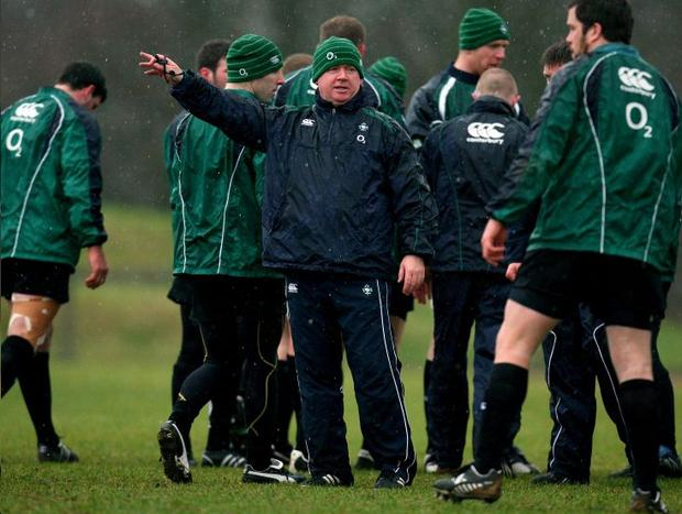 Coach Declan Kidney prepares the Irish stars for the onslaught from France at Croke Park