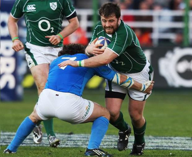 Ireland prop Marcus Horan played his part in Sunday's win over Italy in Rome