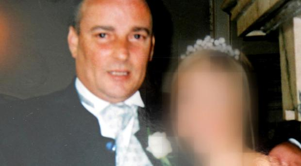 Swindler: Cope with duped third wife Shirley on their wedding day