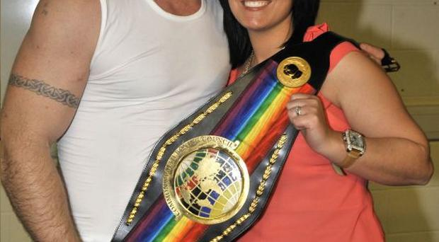 Commonwealth champion Martin Rogan and wife Fiona are enjoying his success