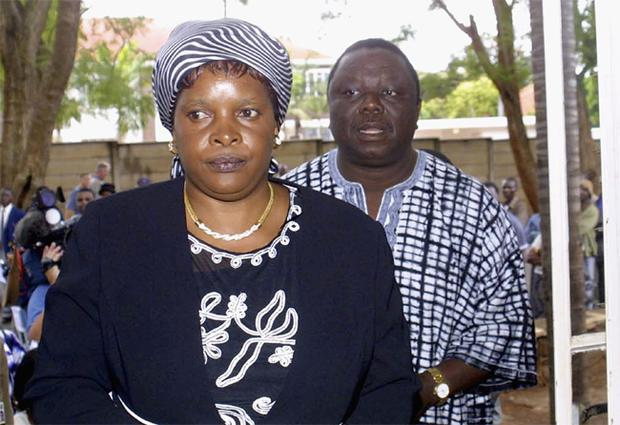 Susan and Morgan Tsvangirai